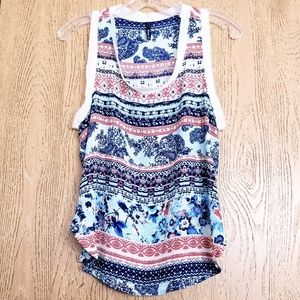 Urban Outfitters Bjewel Tribal & Floral Print Tank